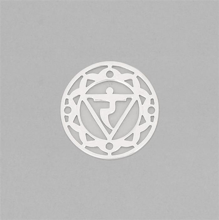 925 Sterling Silver Solar Plexus Chakra Connector Approx 23mm