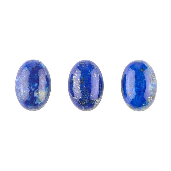 15cts Lapis Lazuli Oval Cabochons Approx 13x9mm. (Pack of 3)