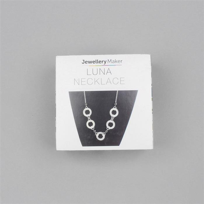 Silver & Black Plated Copper Luna Necklace Project Kit Inc. Instructions (Approx 25pcs)