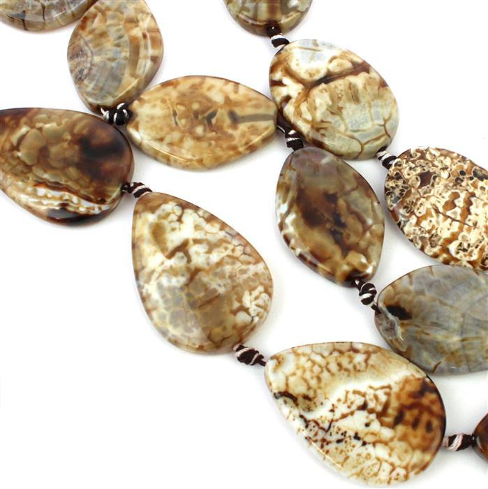Cappuccino Coloured Agate. Inc; Puffy Ovals, Pears & Marquises.