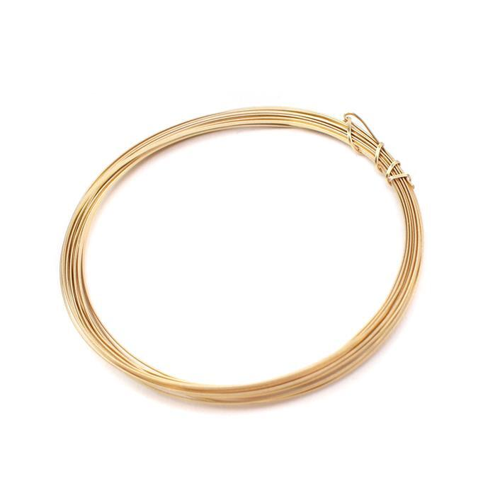 Champagne Gold Coloured Copper Half Round Wire - 0.6mm (3m)