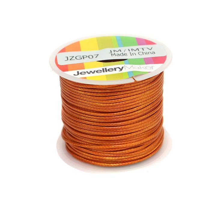 10m Copper Wax Cord Spool 1mm