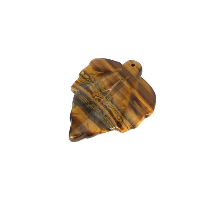 70cts Tigers Eye Leaf Pendant Approx 50x42mm