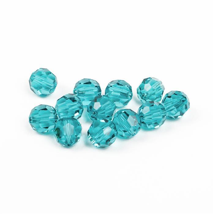 Swarovski Crystal Beads - Pack of 12 Round 5000 - 6mm Light Turquoise
