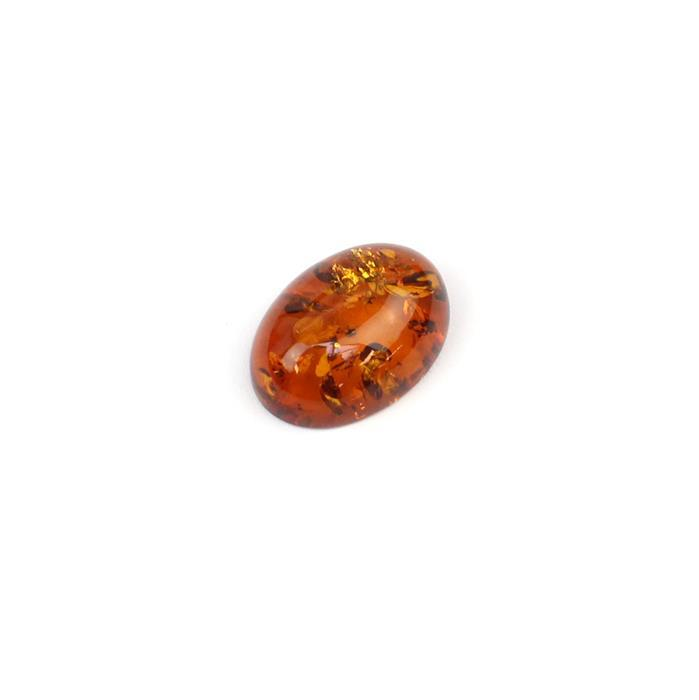 Baltic Cognac Amber Oval Cabochon 25x18mm