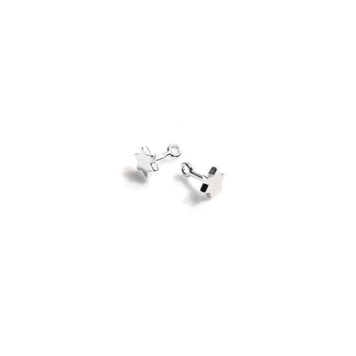 925 Sterling Silver Star Pegs Approx 5mm (2pc)