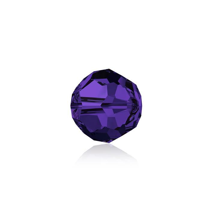 Swarovski Crystal Beads - Pack of 12 Round 5000 - 6mm Purple Velvet