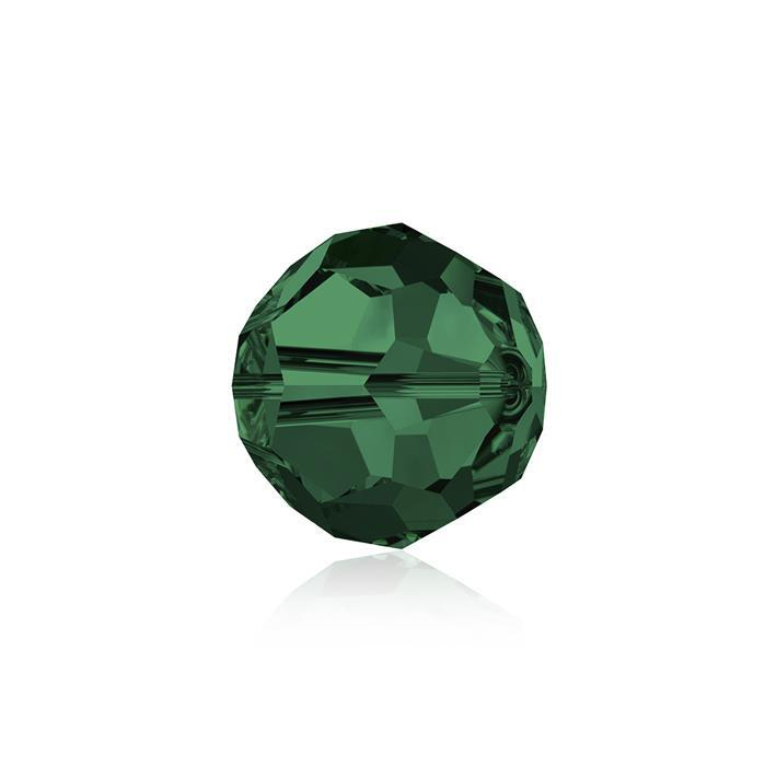 Swarovski Crystal Beads - Pack of 6 Round 5000 - 8mm Emerald