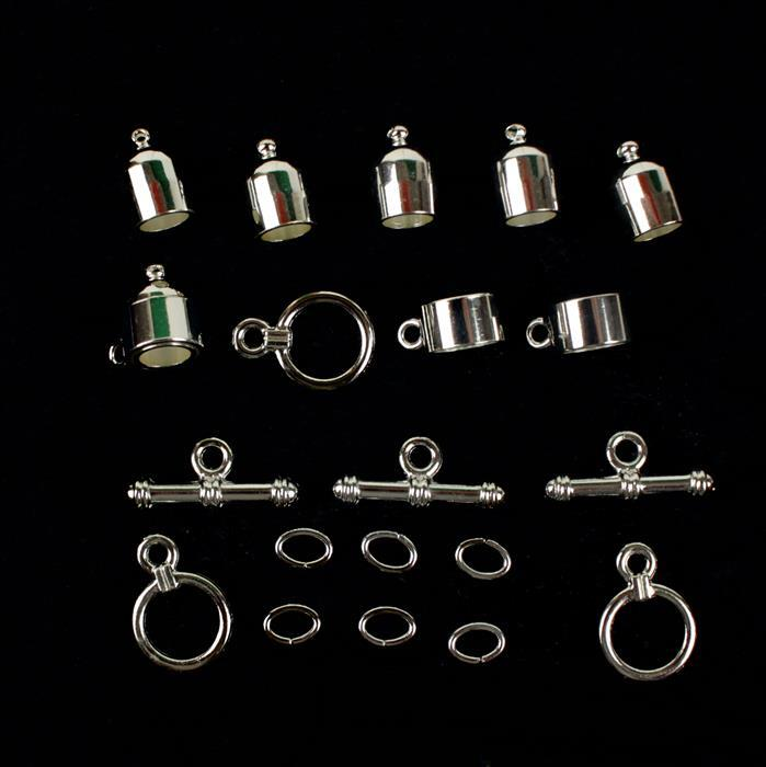 Kumihimo Accessory Pack Silver Plated 6mm (3pack)