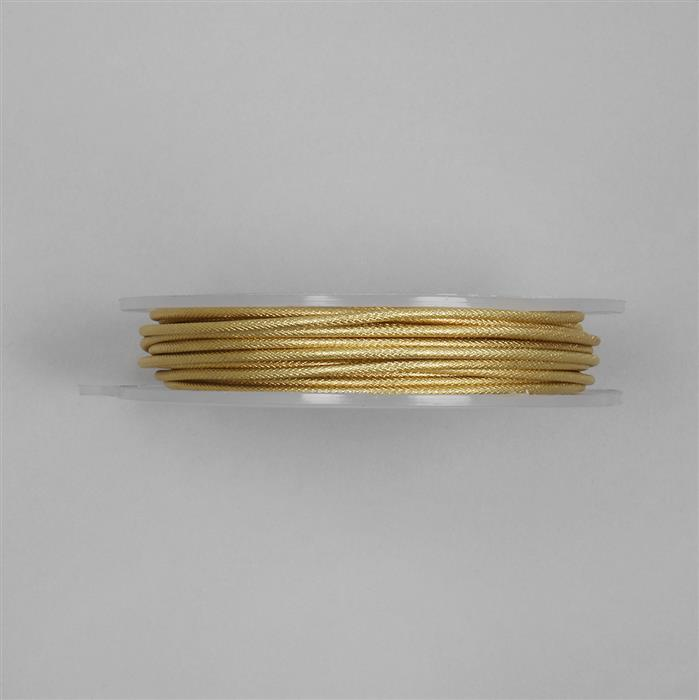 5m Gold Plated Moroccan Patterned Copper Wire Approx 2.00mm
