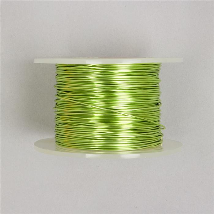 50m Chartreuse Coloured Copper Wire 1.0mm