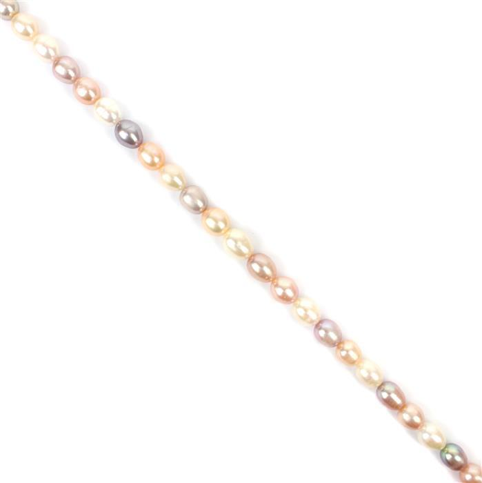 Multi colour Freshwater Rice Pearls Approx 8.5-9.5mm, 38cm Strand