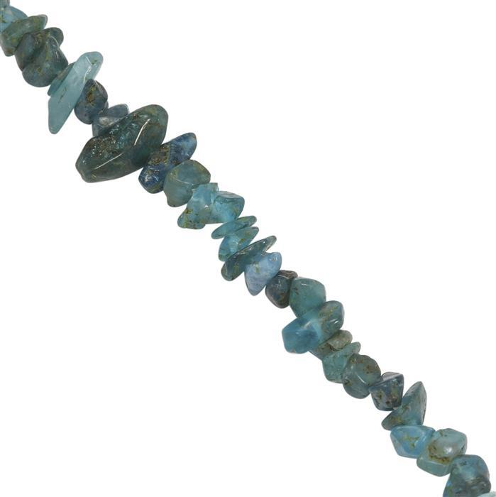 100cts Neon Apatite Plain Nuggets Approx 2x1 to 8x3mm, 84cm Strand