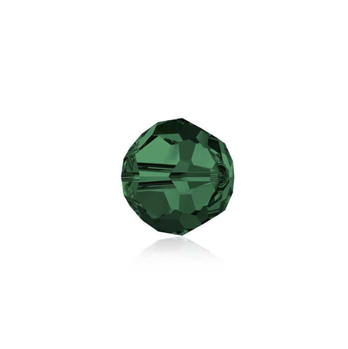 Swarovski Crystal Beads - Pack of 12 Round 5000 - 6mm Emerald