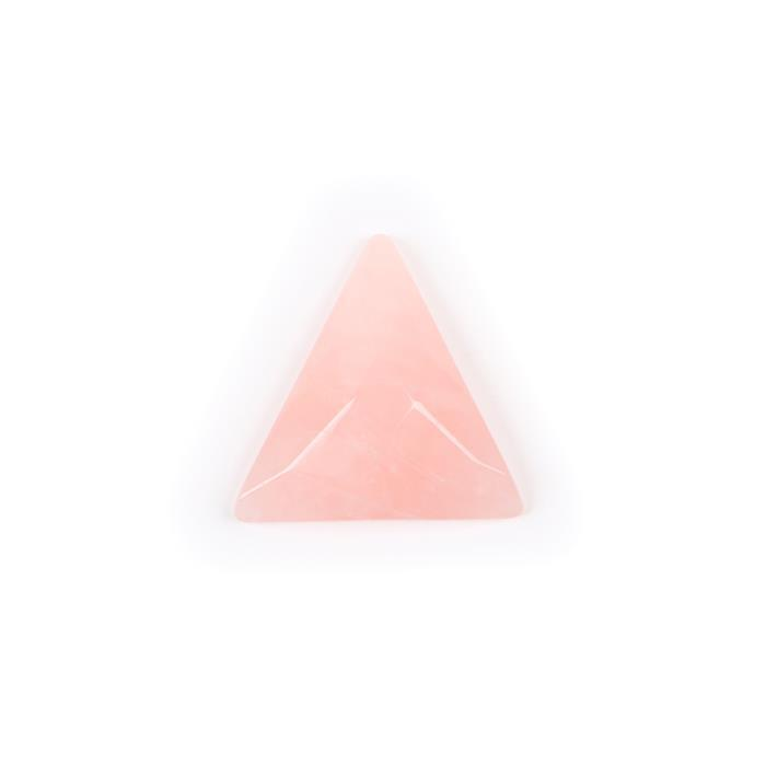 60cts Rose Quartz Faceted Triangle Cabochon  Approx 40mm
