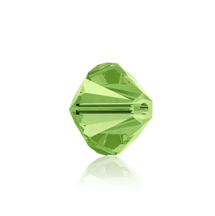Swarovski Crystal Beads - Pack of 6 Bicones 5328 - 8mm Peridot