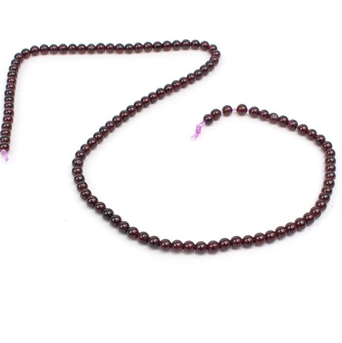 60cts Purple Garnet Plain Rounds Approx 4mm, 38 strand
