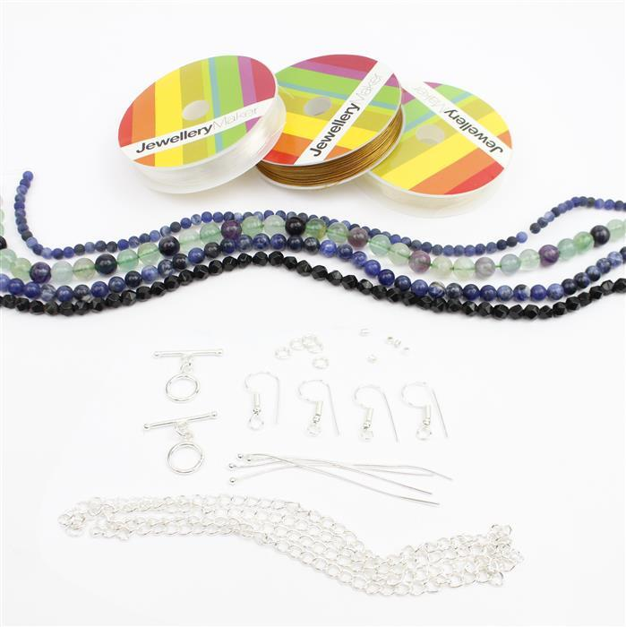 Caspian Sea Jewellery Making Kit with Rounds