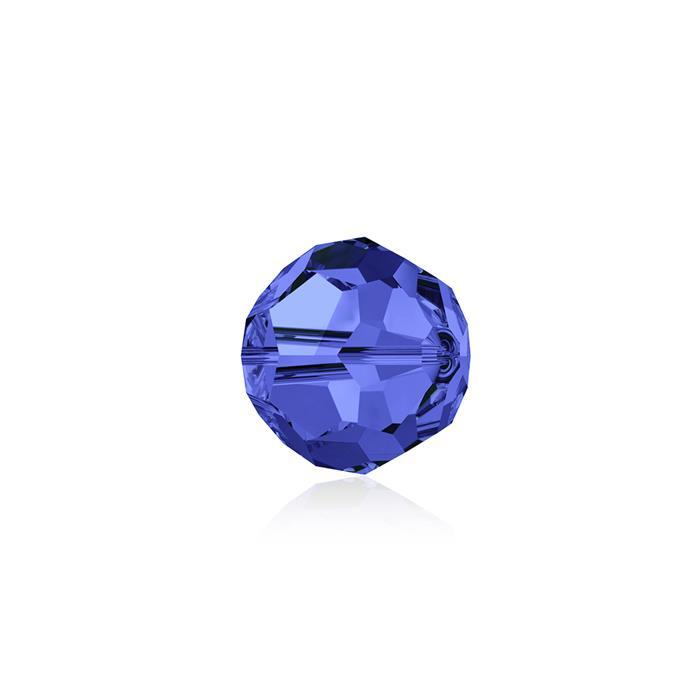 Swarovski Crystal Beads - Pack of 12 Round 5000 - 6mm Sapphire