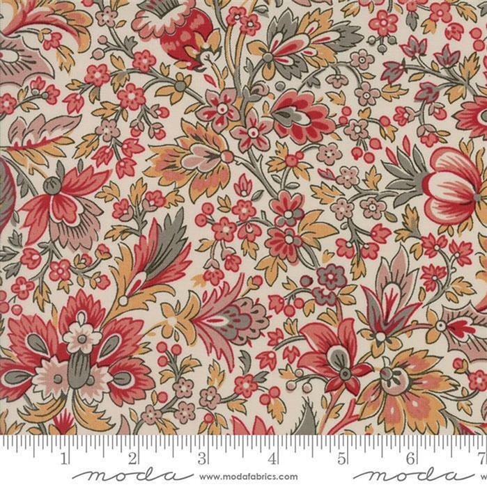 Moda Chafarcani Assorted Floral on Madame Rouge Fabric 0.5m