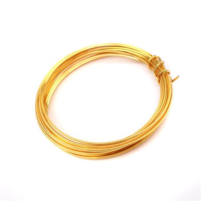 3m Gold Coloured Copper Square Wire Approx 0.80mm