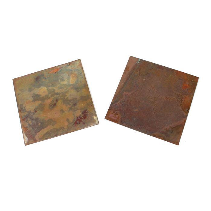 Burnished: Antique Copper Sheet - 0.32mm 4x4