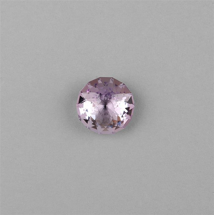 8.50cts Pink Amethyst Concave Cut Round 14mm.