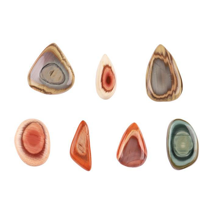 92cts Imperial Jasper Multi Shape Cabochons Assortment.