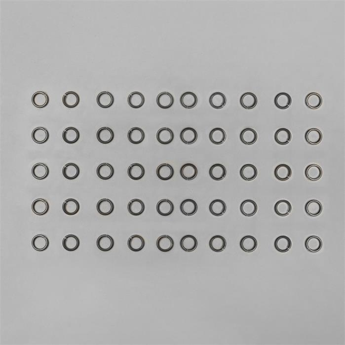 7mm Oxidised Antique Gold Plated Copper Open Jump Rings 1mm Gauge (50pcs)