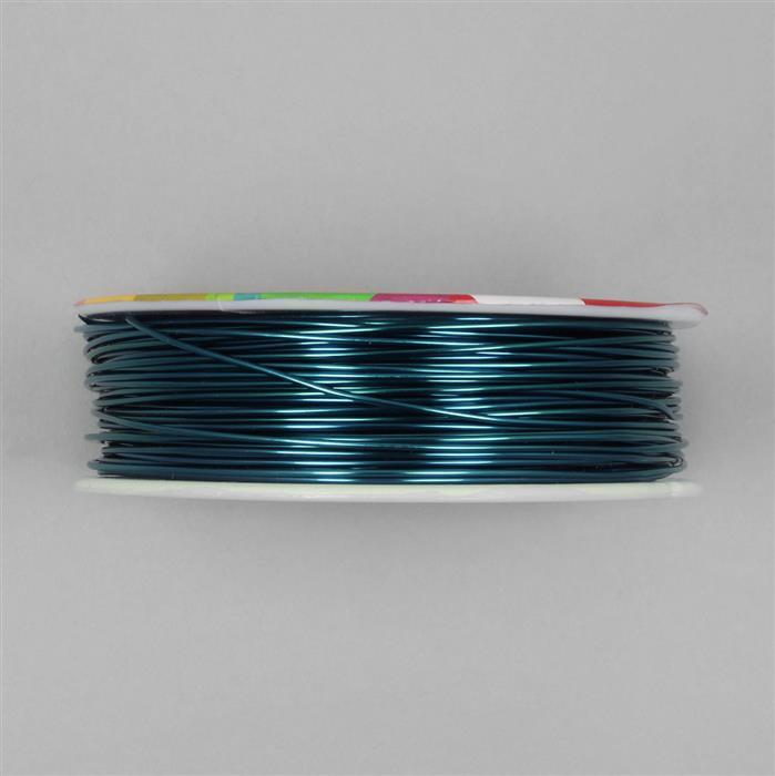 50m Navy Blue Coloured Copper Wire Approx 1.00mm