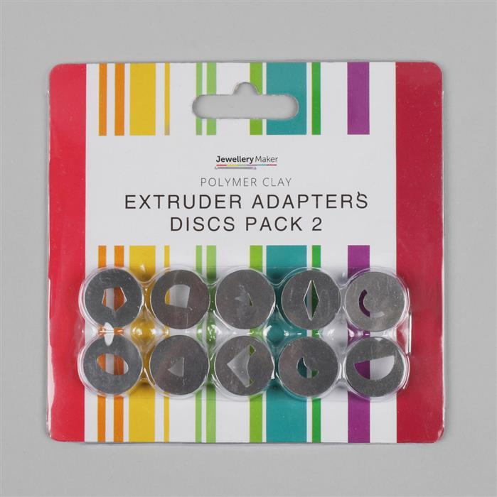 Polymer Clay Extruder Adapters Discs Pack 2