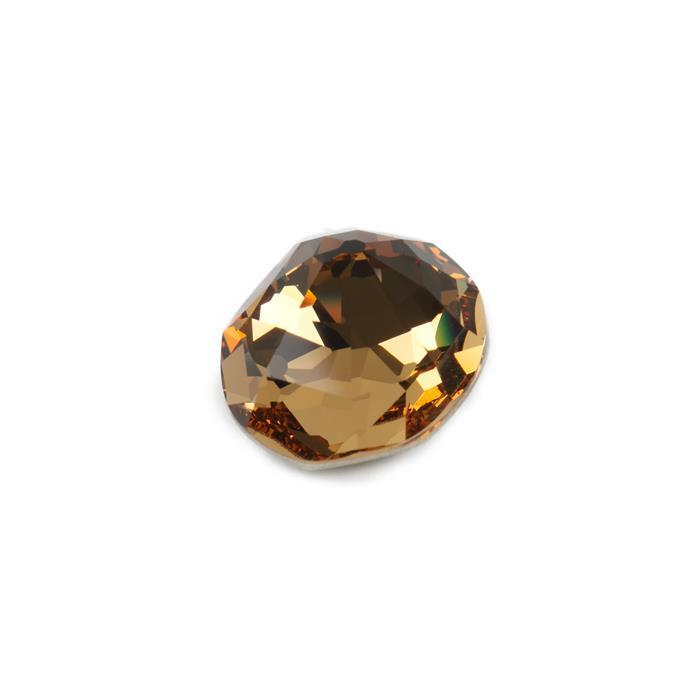 Swarovski Nautilus Fancy Stone 4196 Light Colorado Topaz F 23x20mm -1pk