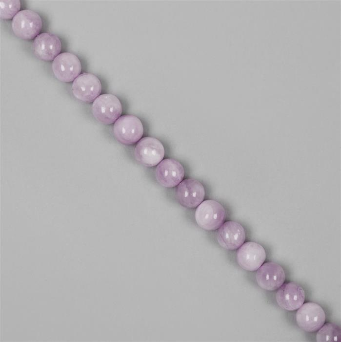 170cts Kunzite Plain Rounds Approx 8mm 38-40cm strand