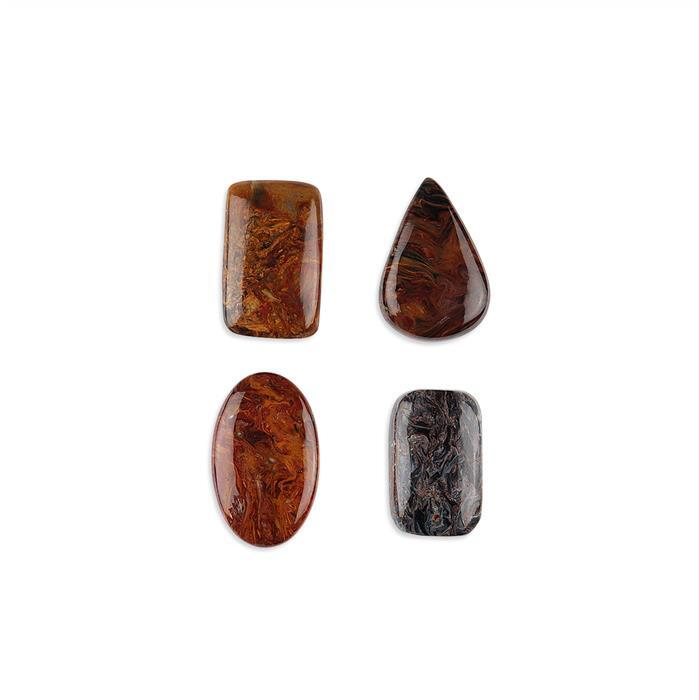 110cts Pietersite Multi Shape Cabochons Assortment.