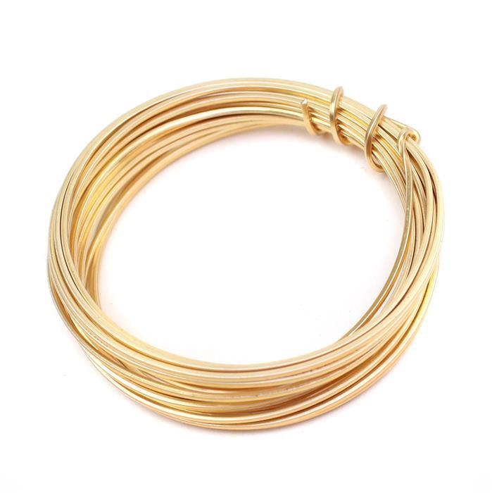 Champagne Gold Copper Square Wire - 1mm (3m)
