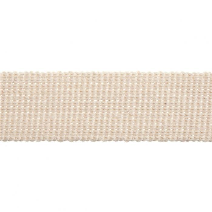 Essential Trimmings Natural Cotton Webbing 1m
