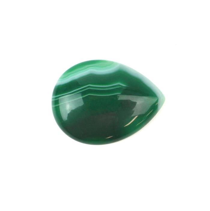 40cts Green Stripe Agate Pear Cabochon Approx 30x40mm, 38c