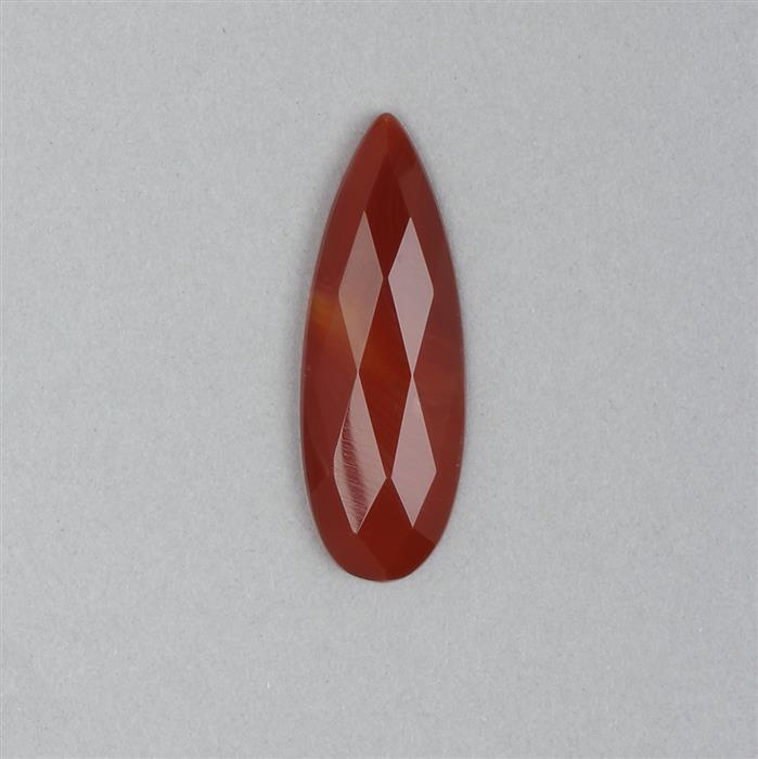 10cts Red Stripe Agate Faceted Drop Cabochon Approx 40x14mm