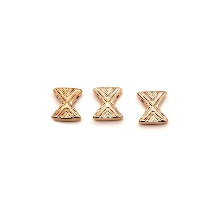 Cymbal Sostis - Chevron Connector - Rose Gold Plated (3pk)