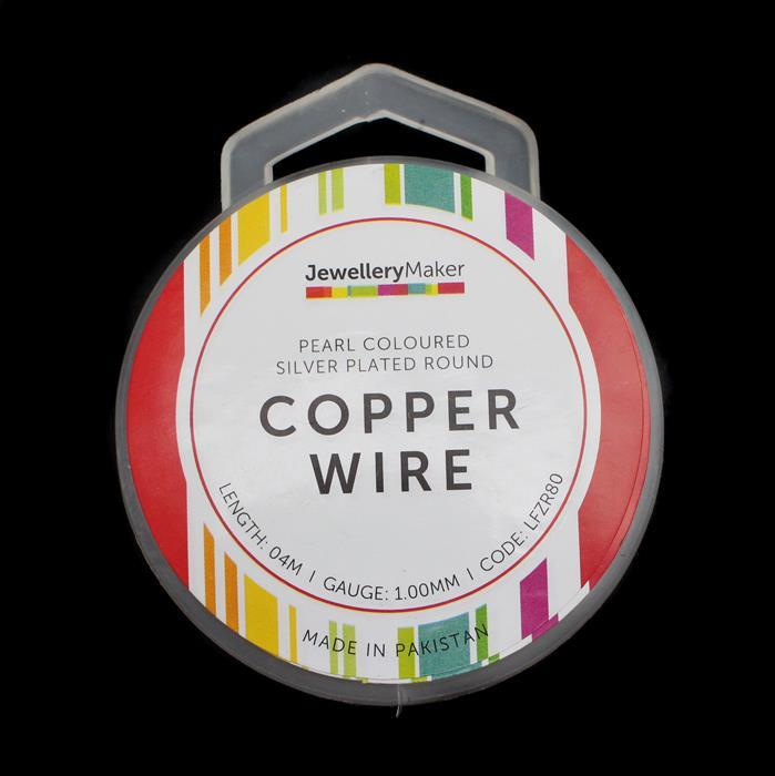 4m Pearl Coloured Silver Plated Copper Wire 1.00mm