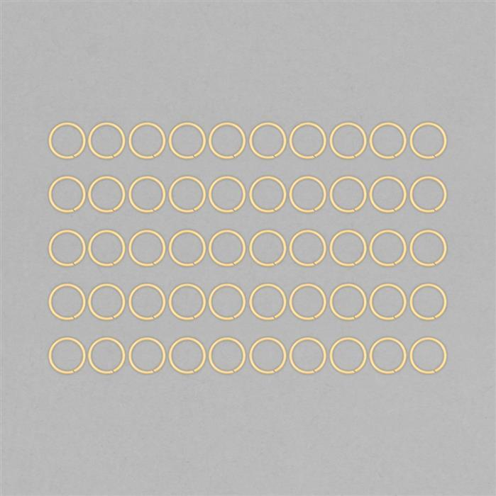 Gold Plated Copper Hollow Open Jump Rings - 24mm & Thickness 2mm (50pcs/pk)