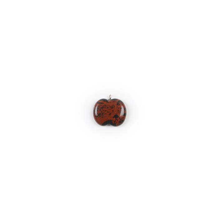 10cts Mahogany Obsidian Apple Pendant Approx 20x17mm