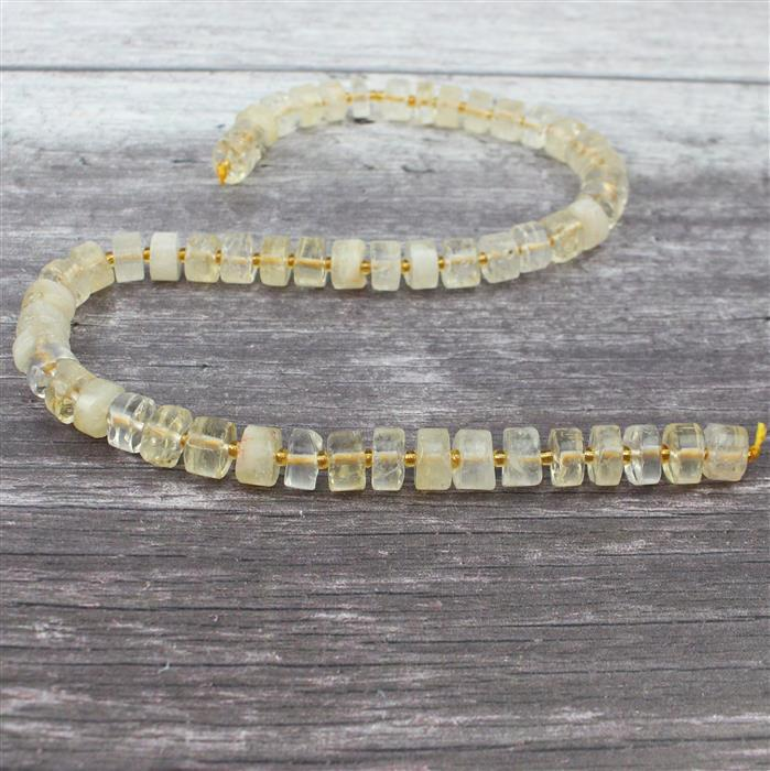 310cts Citrine Wheels Approx 4x9mm-6x12mm, Approx 38cm/strand