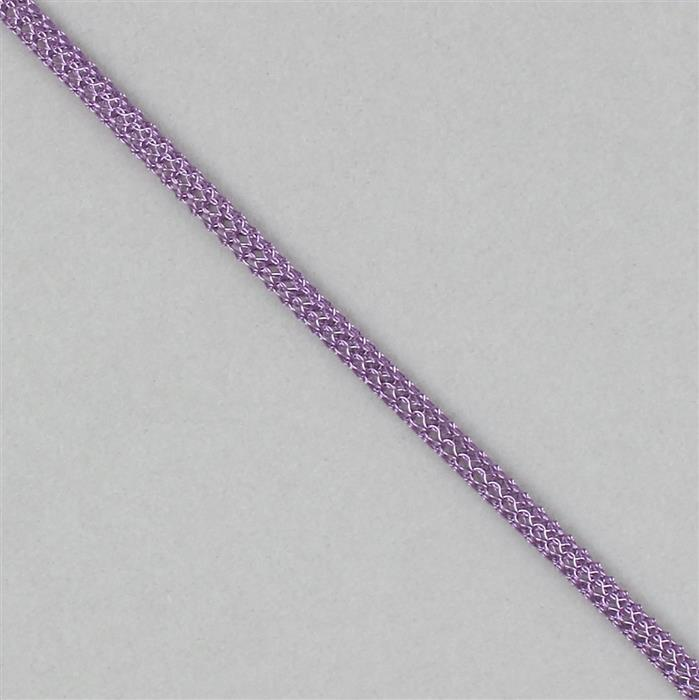 1m Purple Hollow Knit Wire Approx 3mm