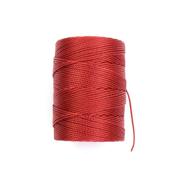 70m Venetian Red Nylon Cord Approx 0.4mm