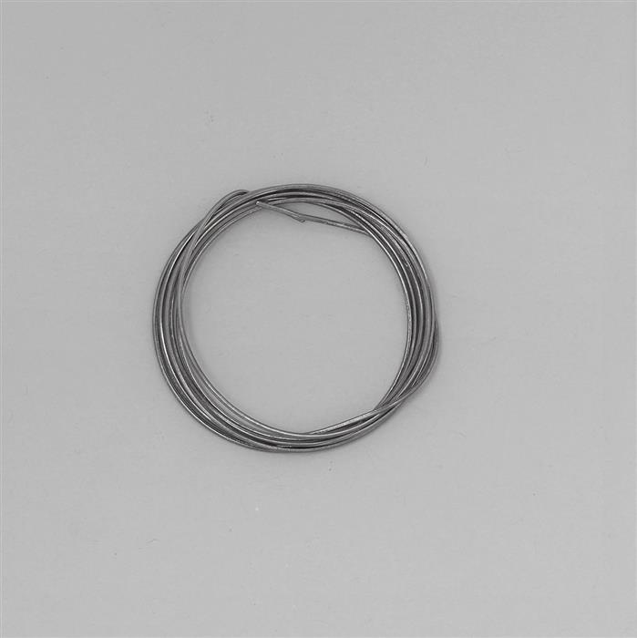 1m Black Rhodium Plated 925 Sterling Silver Round Wire Approx 1mm