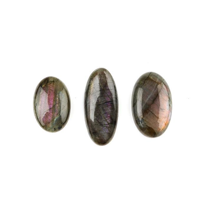 115cts Purple Labradorite Multi Shapes Cabochons Assortment.