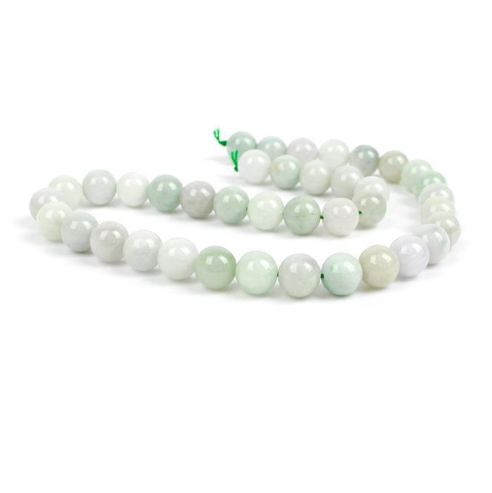 360cts Jadeite Plain Rounds, Approx 10mm, 38cm strand