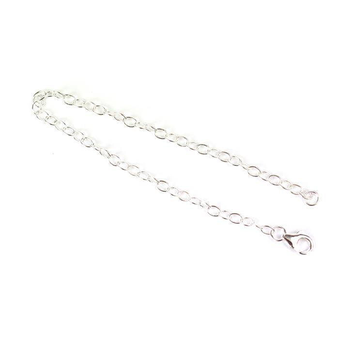 925 Sterling Silver Cable Chain Bracelet Approx 20cm, 1pc