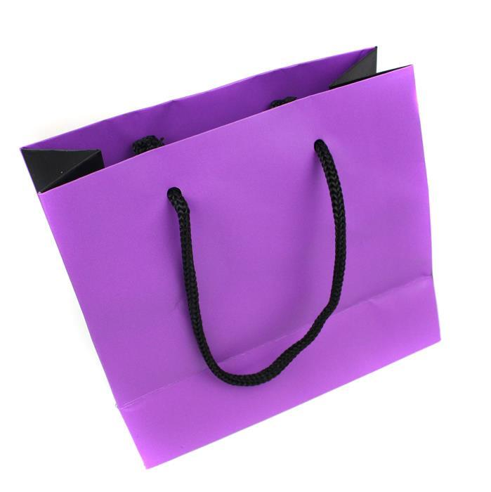 Purple + Black Gift bag 140 x 126 x 67mm  (WxDxH)